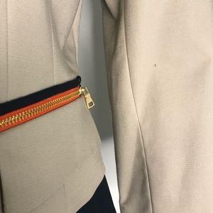 Tahari Jackets & Coats - Tahari Tan & Orange Snap Button Blazer A010670